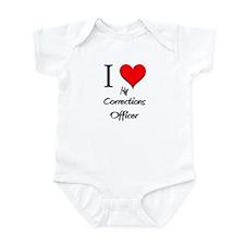 I Love My Corrections Officer Infant Bodysuit