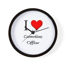 I Love My Corrections Officer Wall Clock