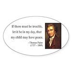 Thomas Paine 6 Oval Sticker