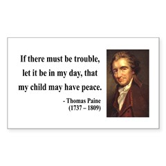 Thomas Paine 6 Rectangle Decal