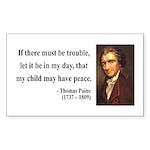 Thomas Paine 6 Rectangle Sticker
