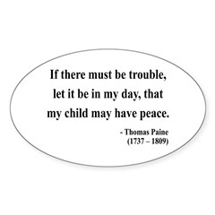 Thomas Paine 6 Oval Decal