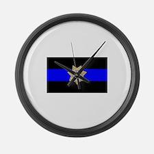 TDCJ Parole Thin Blue Line Large Wall Clock