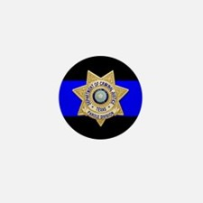TDCJ Parole Thin Blue Line Mini Button
