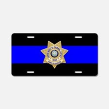 TDCJ Parole Thin Blue Line Aluminum License Plate