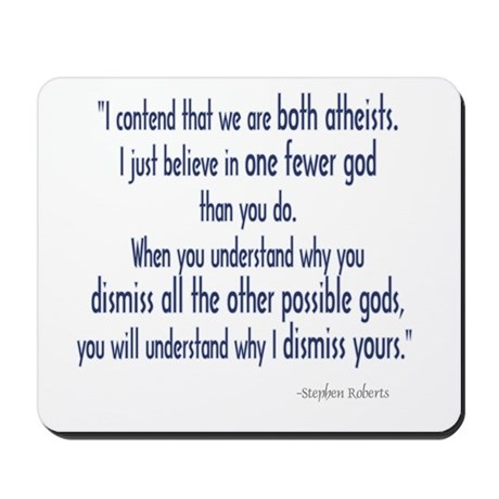 Both Atheists Mousepad
