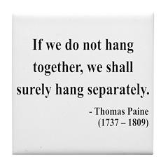 Thomas Paine 7 Tile Coaster