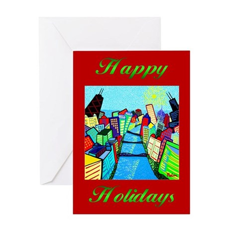 Holiday Greeting Card<br>Chicago River View