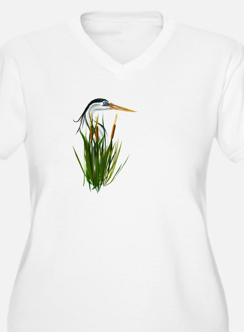 Blue Heron Plus Size T-Shirt
