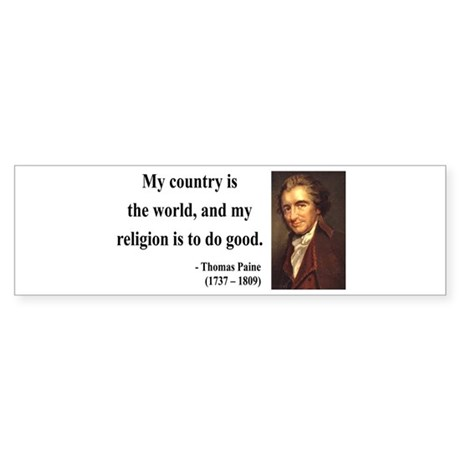 Thomas Paine 8 Bumper Sticker