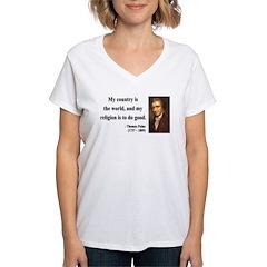 Thomas Paine 8 Women's V-Neck T-Shirt