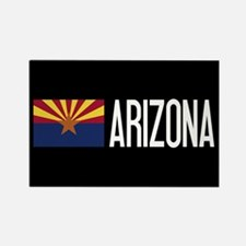 Arizona: Arizonan Flag & Arizona Rectangle Magnet