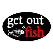 Get Out & Fish Oval Decal