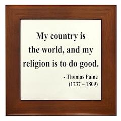 Thomas Paine 8 Framed Tile
