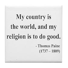 Thomas Paine 8 Tile Coaster
