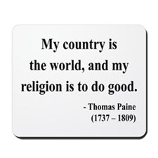 Thomas Paine 8 Mousepad