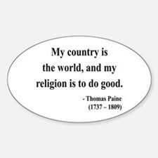 Thomas Paine 8 Oval Decal