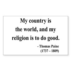 Thomas Paine 8 Rectangle Decal
