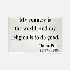 Thomas Paine 8 Rectangle Magnet