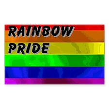 SHADOWS RAINBOW PRIDE FLAG Rectangle Decal