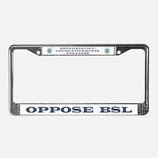 Anti-BSL License Plate Frame
