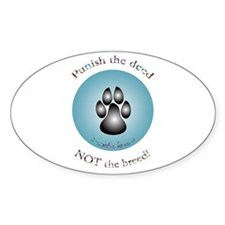 """Punish the deed"" Oval Decal"