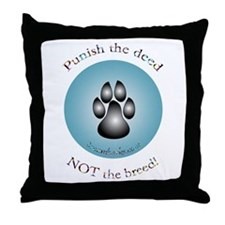 """Punish the deed"" Throw Pillow"