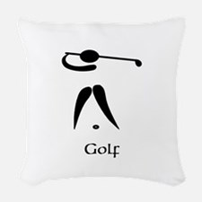 Team Golf Title Woven Throw Pillow