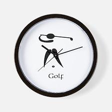 Team Golf Title Wall Clock