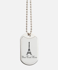 Personalizable Eiffel Tower Dog Tags