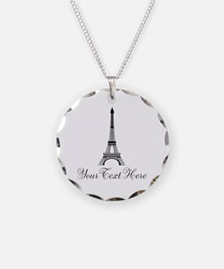 Personalizable Eiffel Tower Necklace