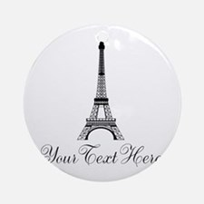 Personalizable Eiffel Tower Round Ornament