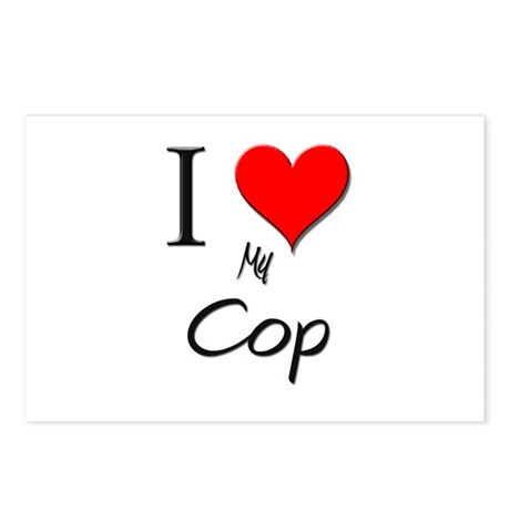 I Love My Cop Postcards (Package of 8)