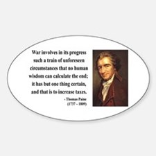 Thomas Paine 10 Oval Decal
