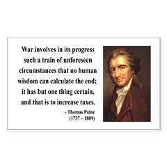 Thomas Paine 10 Rectangle Decal
