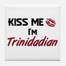 Kiss me I'm Trinidadian Tile Coaster