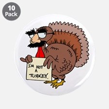 """Cute Happy thanksgiving 3.5"""" Button (10 pack)"""