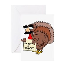 Cute Gobble gobble day Greeting Card