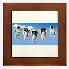 Cute Pups Framed Tile