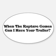 Rapture Humor Oval Decal