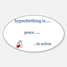 Hypnobirth Advocacy Oval Decal