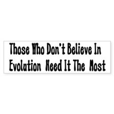 Pro-Evolution Bumper Bumper Sticker