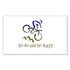NO ROADS NO RULES Rectangle Decal