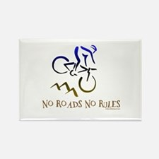 NO ROADS NO RULES Rectangle Magnet (10 pack)