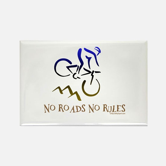 NO ROADS NO RULES Rectangle Magnet (100 pack)