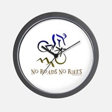 NO ROADS NO RULES Wall Clock
