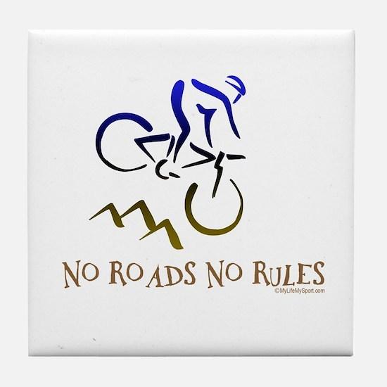 NO ROADS NO RULES Tile Coaster