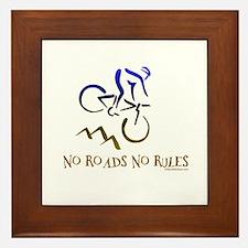 NO ROADS NO RULES Framed Tile