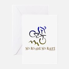NO ROADS NO RULES Greeting Cards (Pk of 20)