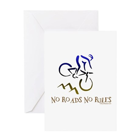 NO ROADS NO RULES Greeting Card